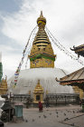 Swayambhunath Stupa, all-seeing eyes of the Buddha, Kathmandu Valley, Nepal