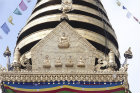 Images of Buddha on Stupa, Swayambhunath, Kathmandu Valley, Nepal