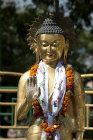 Figure of Buddha, Swayambhunath Stupa, Kathmandu Valley, Nepal