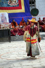 Dancer in traditional Tibetan costume, Tiji Festival, Lomanthang, Upper Mustang, Nepal