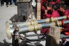 Tibetan horns, Tiji Festival, Lomanthang, Upper Mustang, Nepal