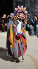 Traditional masked dancer, Tiji Festival, Lomanthang, Upper Mustang, Nepal