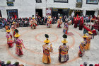 Traditional dancers, Tiji Festival, Lomanthang, Upper Mustang, Nepal