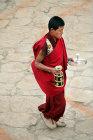 Monk at Tiji Festival, Lomanthang, Upper Mustang, Nepal