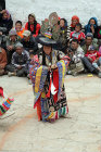 Dancer in traditional dress, Tiji Festival, Lomanthang, Upper Mustang, Nepal