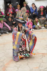 Traditional dancer, Tiji Festival, Lomanthang, Upper Mustang, Nepal