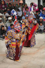 Traditional masked dancers, Tiji Festival, Lomanthang, Upper Mustang, Nepal