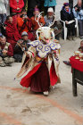 Traditional dancer in deer mask, Tiji Festival, Lomanthang, Upper Mustang, Nepal
