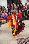 Dancer in traditional demon mask, Tiji Festival, Lomanthang, Upper Mustang, Nepal
