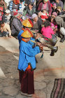 Trumpeters at Tiji Festival, Lomanthang, Upper Mustang, Nepal