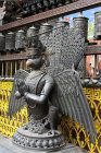 Garuda, holy bird of Hinduism and Buddhism, in former monastery Uku Bahal, Patan, Nepal