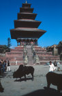 Nepal Bhadgaon Durbar Square Nyatapola Temple early 18th century