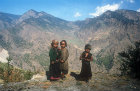 Sherpa children in the mountains, Nepal