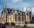 Batalha Abbey Church, begun 1386, completed circa 1517, south-west aspect, central region, Portugal