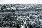 Dome of the Rock, and Golden Gate seen from Mount of Olives, circa 1920, old postcard, Jerusalem, at that time Palestine, now Israel
