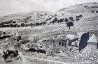 Valley of the Tombs (Kidron Valley) old postcard, circa 1900, Jerusalem, Palestine