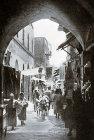 David Street, circa 1910, old postcard, Jerusalem, Palestine