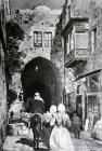 Street of the Chain, circa 1923, old postcard, Jerusalem, Palestine
