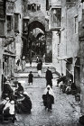 Street of the Chain, 1932, old postcard, Jerusalem, Palestine
