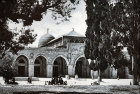 El Aksa Mosque, circa 1910, old postcard, Jerusalem, at that time Palestine, now Israel
