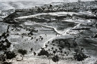 Jerusalem, view of old city from Mount Scopus, 1923, old postcard, at that time Palestine, now Israel