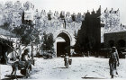 Gate of Damascus, circa 1910, old postcard, Jerusalem, at that time Palestine, now Israel
