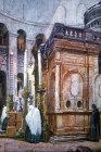 Chapel of the Sepulchre, under the Rotunda, Church of the Holy Sepulchre, circa 1901, old poscard, Jerusalem, Palestine