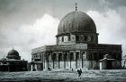 Dome of the Rock, circa 1910, Jerusalem, old postcard, at that time Palestine, now Israel