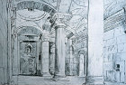 Palestine, Jerusalem, Temple Area, interior of the Golden Gate, drawing by John Fulleylove, late 19th century
