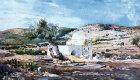 Tomb of Rachel, on road between Jerusalem and Bethlehem, painted by John Fulleylove, circa 1908, Palestine