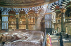 Dome of the Rock, interior, painted by John Fulleylove, circa 1908, Jerusalem, at that time Palestine, now Israel