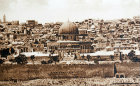 Dome of the Rock from Mount of Olives, circa 1910, old postcard, Jerusalem, at that time Palestine, now Israel