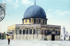 Dome of the Rock,  circa 1906, old postcard, Jerusalem, at that time Palestine, now Israel