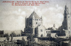 Basilica of the Dormition on Mount Zion circa 1906, old postcard, Jerusalem, Palestine