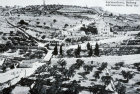 Mount of Olives and Russian Orthodox Church of Mary Magdelene, built 1888, old postcard, circa 1906, Jerusalem, Palestine