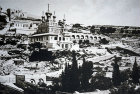 Russian Orthodox Church of Mary Magdalene on Mount of Olives, built 1888, old postcard, circa 1910, Jerusalem, Palestine