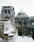 Church of Holy Sepulchre, south door, circa 1910, old postcard, Jerusalem, at that time Palestine, now Israel