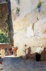 Jews at the Western Wall, painting by Pierre Vignal, 1926, Jerusalem, at that time Palestine, now Israel
