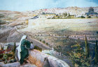 Jerusalem seen from the Mount of Olives, circa 1920, at that time Palestine, now Israel