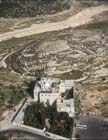 Mar Elias,  6th century Greek Orthodox monastery, rebuilt 1160, between Jerusalem and Bethlehem, aerial view, Israel