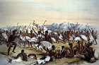 South Africa, Durban, Zulu hunting dance near Engooi Mountains by G F Angas 1849, Killie Campbell Africana Library