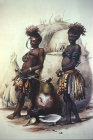 South Africa, Durban, Zulu Boys in dance dress by G F Angas 1849  Killie Campbell Africana Library