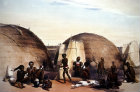South Africa, Durban, Zulu Kraal at Umlazi by G F Angas 1849 in Killie Campbell Africana Library