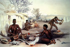 South Africa, Durban, Zulu blacksmiths at work by G F Angas 1849 in Killie Campbell Africana Library
