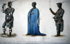 South Africa, King Dingane in his ordinary and dancing dresses from Narrative of a Journey to the Zoolu country in South Africa by Captain Allen F Gardiner 1836 Durban Municipal Library