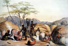 South Africa, Durban, Gudus Kraal at Tugela, women making beer by G F Angas 1849 in the Killie Campbell Africana Libary