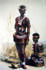 South Africa, Durban, two of King Mpandes dancing girls by G F Angas 1849 in the Killie Campbell Africana Library