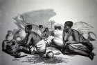 South Africa, Durban, Zulu Women making pottery engraving  by G F Angas 1849 in the Killie Campbell Africana Library