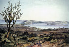 South Africa, Durban, Port Natal Durban from the Berea by G F Angas 1849 in the Killie Campbell Africana Library