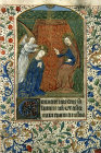 The Virgin being blessed by God 14th century manuscript from a Book of Hours, National Library of South Africa, Capetown